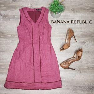 Banana Republic size 2 petite maroon tank dress